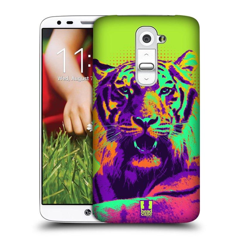 Plastové pouzdro na mobil LG G2 HEAD CASE POP PRINT TYGR (Kryt či obal na mobilní telefon LG G2 D802)