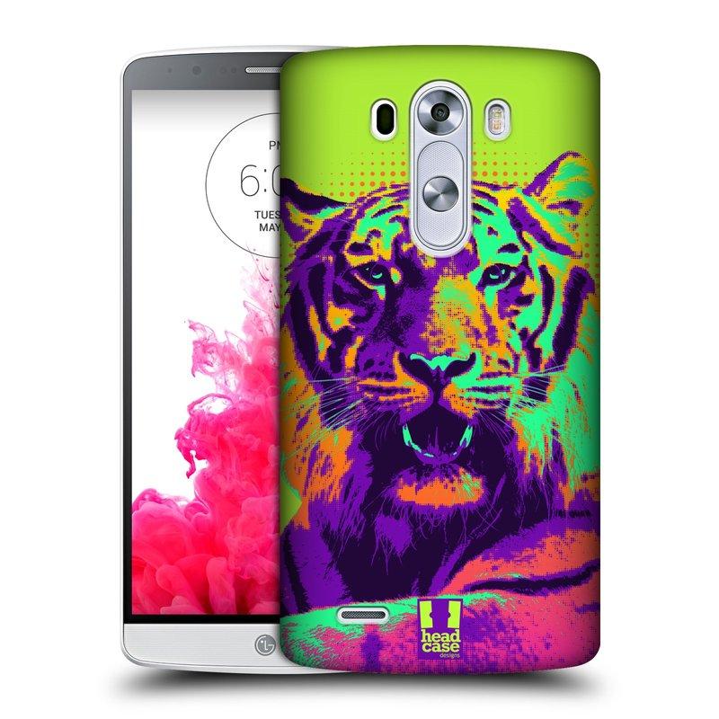 Plastové pouzdro na mobil LG G3 HEAD CASE POP PRINT TYGR (Kryt či obal na mobilní telefon LG G3 D855)