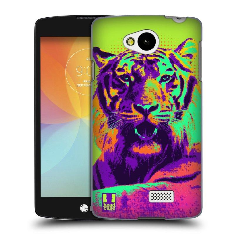 Plastové pouzdro na mobil LG F60 HEAD CASE POP PRINT TYGR (Kryt či obal na mobilní telefon LG F60 D390n)