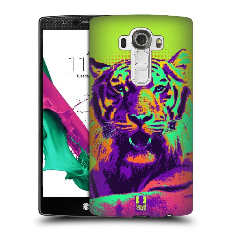 Plastové pouzdro na mobil LG G4 HEAD CASE POP PRINT TYGR (Kryt či obal na mobilní telefon LG G4 H815)