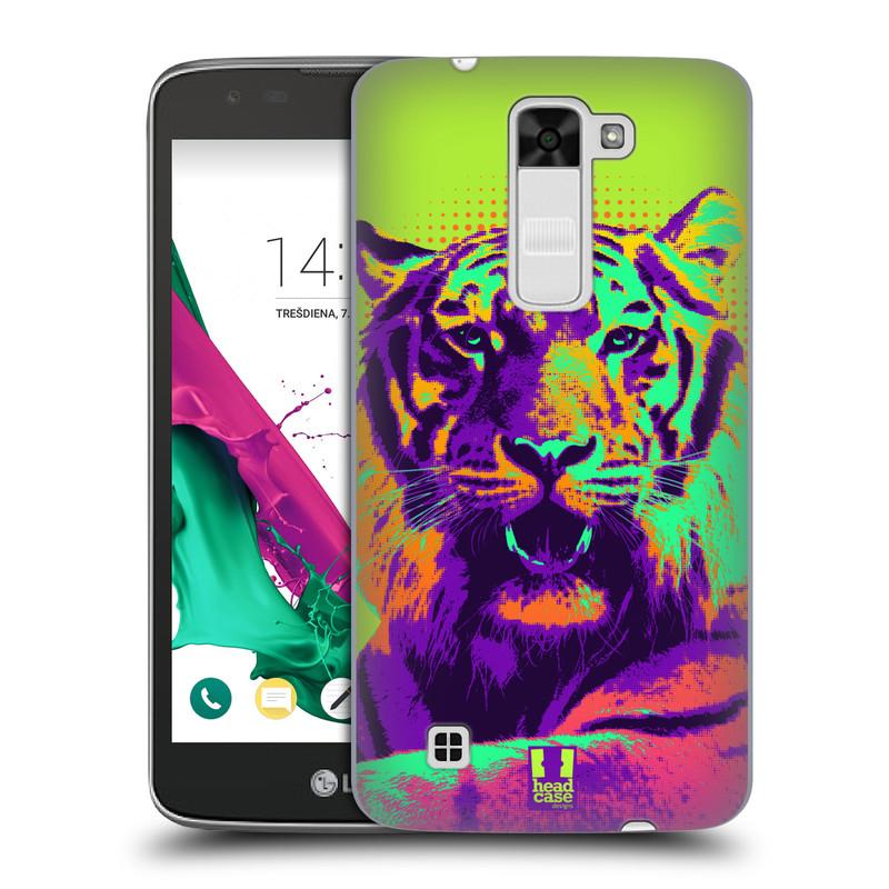 Plastové pouzdro na mobil LG K7 HEAD CASE POP PRINT TYGR (Kryt či obal na mobilní telefon LG K7)