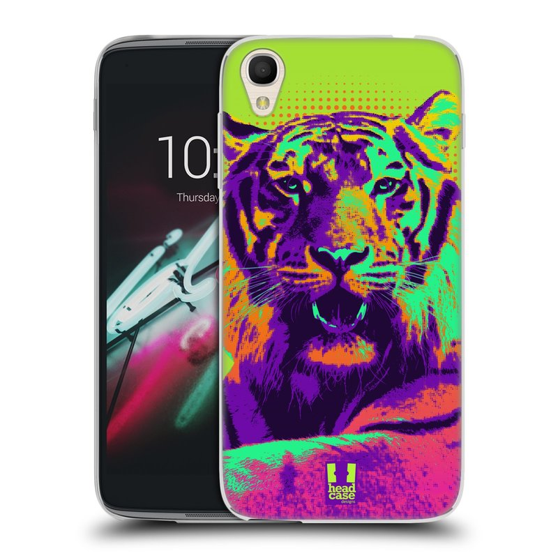 "Silikonové pouzdro na mobil Alcatel One Touch 6039Y Idol 3 HEAD CASE POP PRINT TYGR (Silikonový kryt či obal na mobilní telefon Alcatel One Touch Idol 3 OT-6039Y s 4,7"" displejem)"