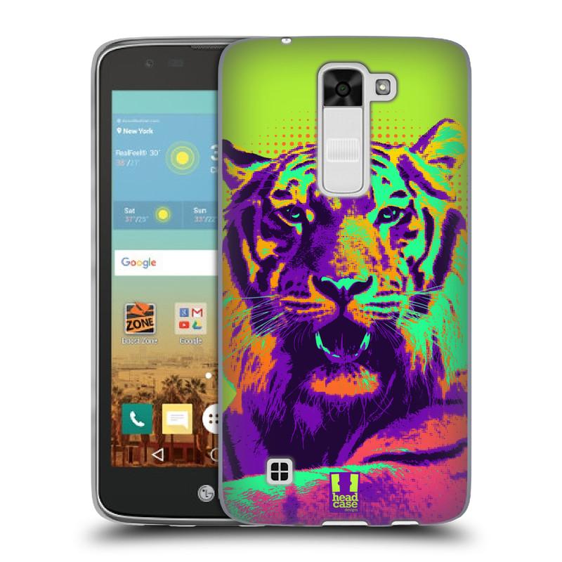 Silikonové pouzdro na mobil LG K7 HEAD CASE POP PRINT TYGR (Silikonový kryt či obal na mobilní telefon LG K7)