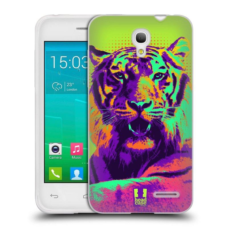 Silikonové pouzdro na mobil Alcatel One Touch Pop S3 HEAD CASE POP PRINT TYGR (Silikonový kryt či obal na mobilní telefon Alcatel OT- 5050Y POP S3)