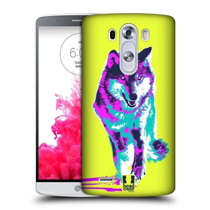 Plastové pouzdro na mobil LG G3 HEAD CASE POP PRINT VLK (Kryt či obal na mobilní telefon LG G3 D855)