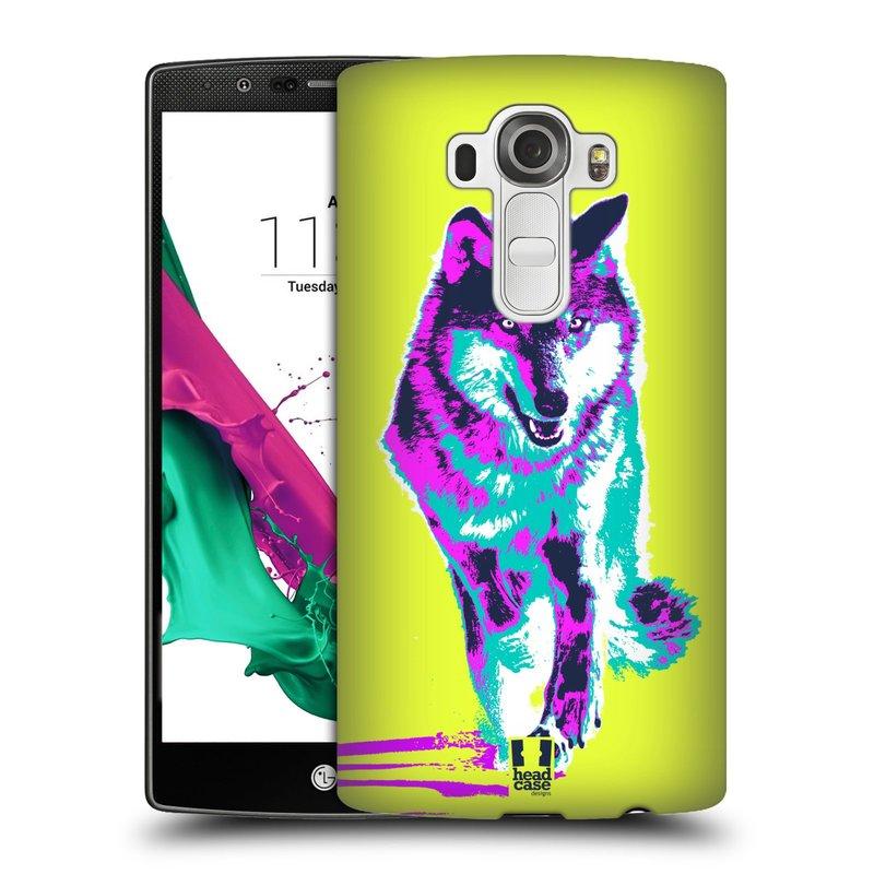 Plastové pouzdro na mobil LG G4 HEAD CASE POP PRINT VLK (Kryt či obal na mobilní telefon LG G4 H815)