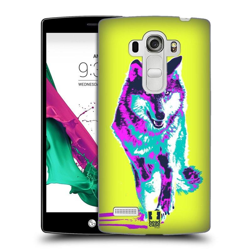 Plastové pouzdro na mobil LG G4s HEAD CASE POP PRINT VLK (Kryt či obal na mobilní telefon LG G4s H735n)