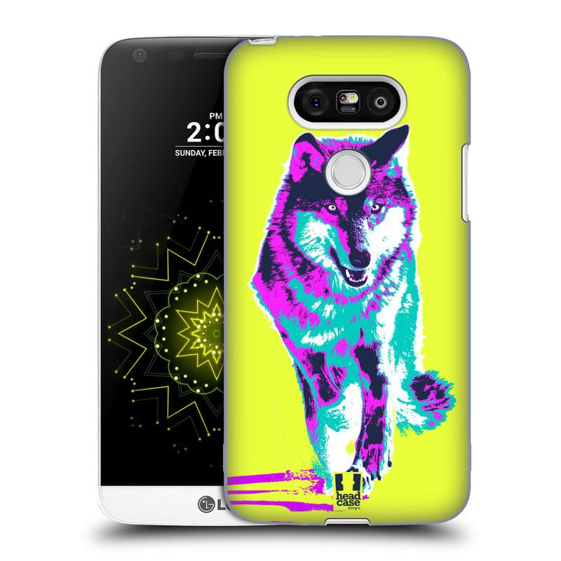 Plastové pouzdro na mobil LG G5 HEAD CASE POP PRINT VLK (Kryt či obal na mobilní telefon LG G5 H850)