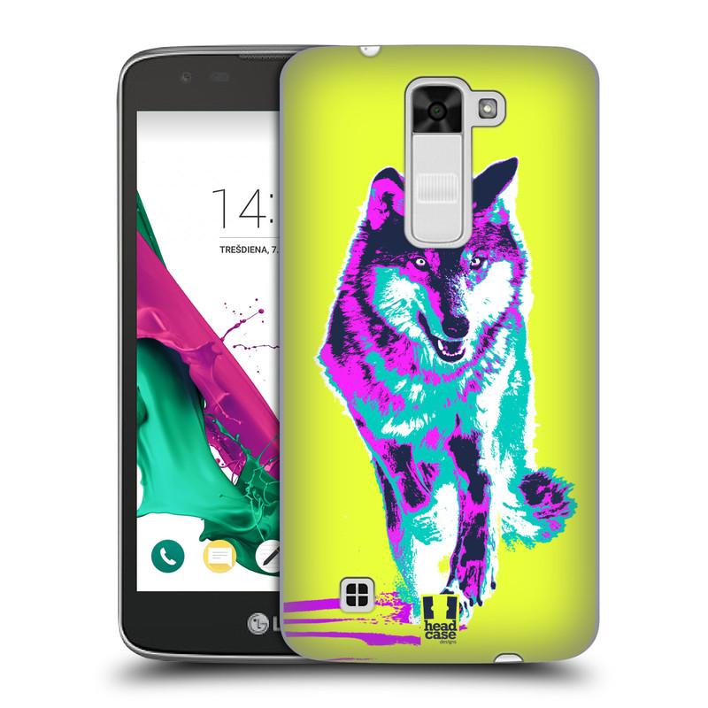 Plastové pouzdro na mobil LG K7 HEAD CASE POP PRINT VLK (Kryt či obal na mobilní telefon LG K7)