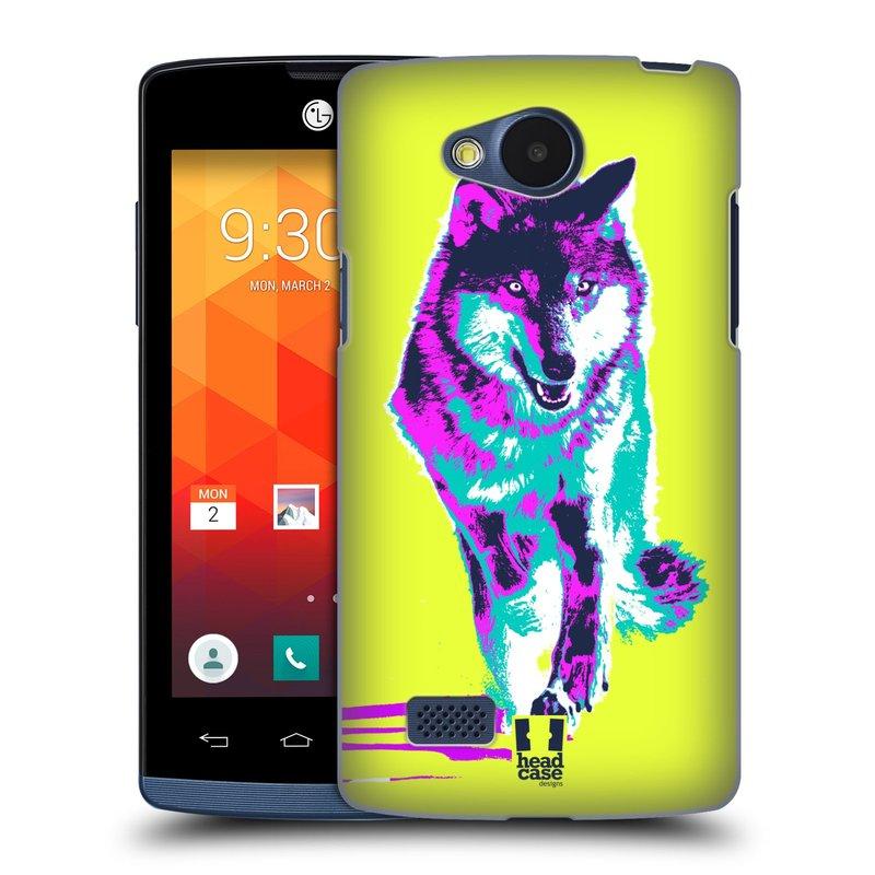 Plastové pouzdro na mobil LG Joy HEAD CASE POP PRINT VLK (Kryt či obal na mobilní telefon LG Joy H220)