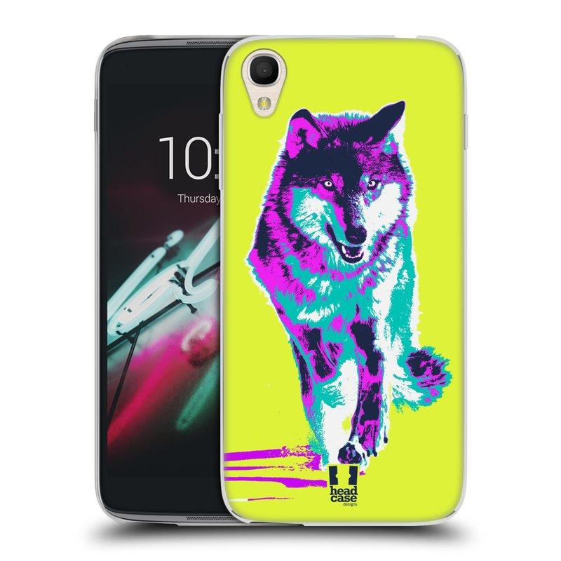 "Silikonové pouzdro na mobil Alcatel One Touch 6039Y Idol 3 HEAD CASE POP PRINT VLK (Silikonový kryt či obal na mobilní telefon Alcatel One Touch Idol 3 OT-6039Y s 4,7"" displejem)"