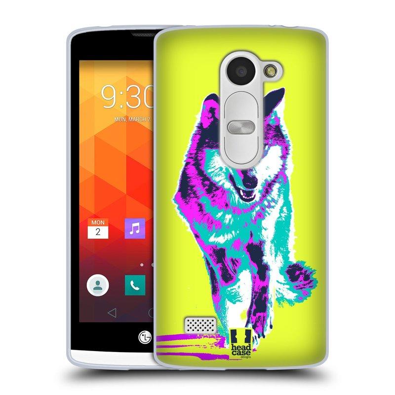 Silikonové pouzdro na mobil LG Leon LTE HEAD CASE POP PRINT VLK (Silikonový kryt či obal na mobilní telefon LG Leon H320 a LG Leon LTE H340N)