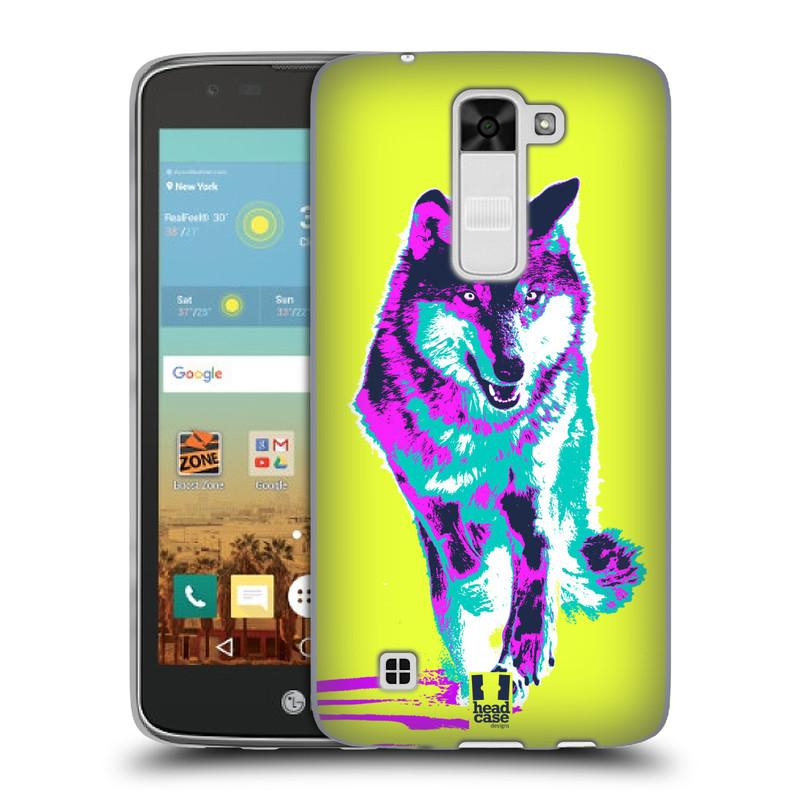 Silikonové pouzdro na mobil LG K7 HEAD CASE POP PRINT VLK (Silikonový kryt či obal na mobilní telefon LG K7)