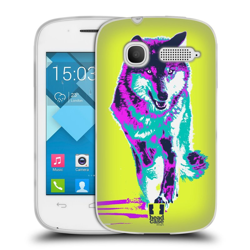 Silikonové pouzdro na mobil Alcatel One Touch Pop C1 HEAD CASE POP PRINT VLK (Silikonový kryt či obal na mobilní telefon Alcatel OT-4015D POP C1)