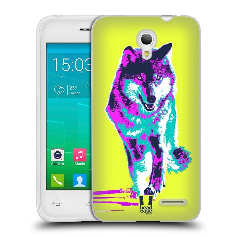 Silikonové pouzdro na mobil Alcatel One Touch Pop S3 HEAD CASE POP PRINT VLK (Silikonový kryt či obal na mobilní telefon Alcatel OT- 5050Y POP S3)