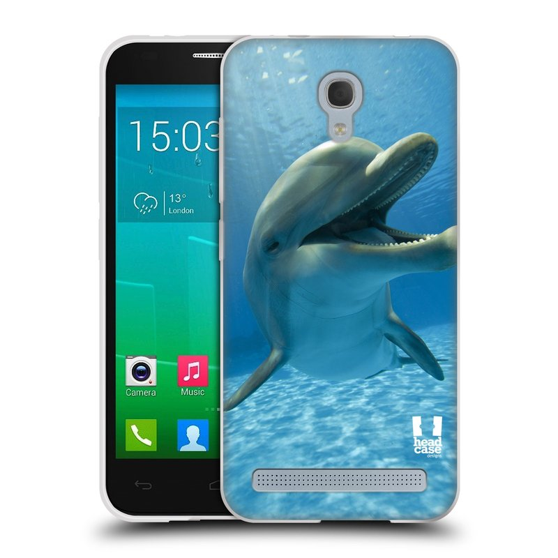 Silikonové pouzdro na mobil Alcatel One Touch Idol 2 Mini S 6036Y HEAD CASE DIVOČINA – DELFÍN (Silikonový kryt či obal na mobilní telefon Alcatel Idol 2 Mini S OT-6036Y)