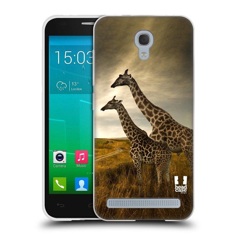 Silikonové pouzdro na mobil Alcatel One Touch Idol 2 Mini S 6036Y HEAD CASE DIVOČINA – ŽIRAFY (Silikonový kryt či obal na mobilní telefon Alcatel Idol 2 Mini S OT-6036Y)