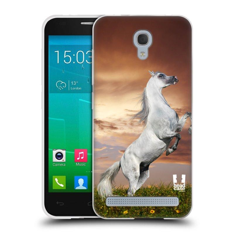 Silikonové pouzdro na mobil Alcatel One Touch Idol 2 Mini S 6036Y HEAD CASE DIVOČINA – KŮŇ (Silikonový kryt či obal na mobilní telefon Alcatel Idol 2 Mini S OT-6036Y)