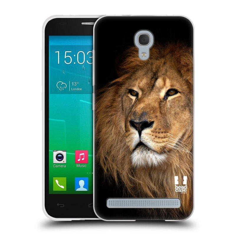 Silikonové pouzdro na mobil Alcatel One Touch Idol 2 Mini S 6036Y HEAD CASE DIVOČINA – LEV (Silikonový kryt či obal na mobilní telefon Alcatel Idol 2 Mini S OT-6036Y)