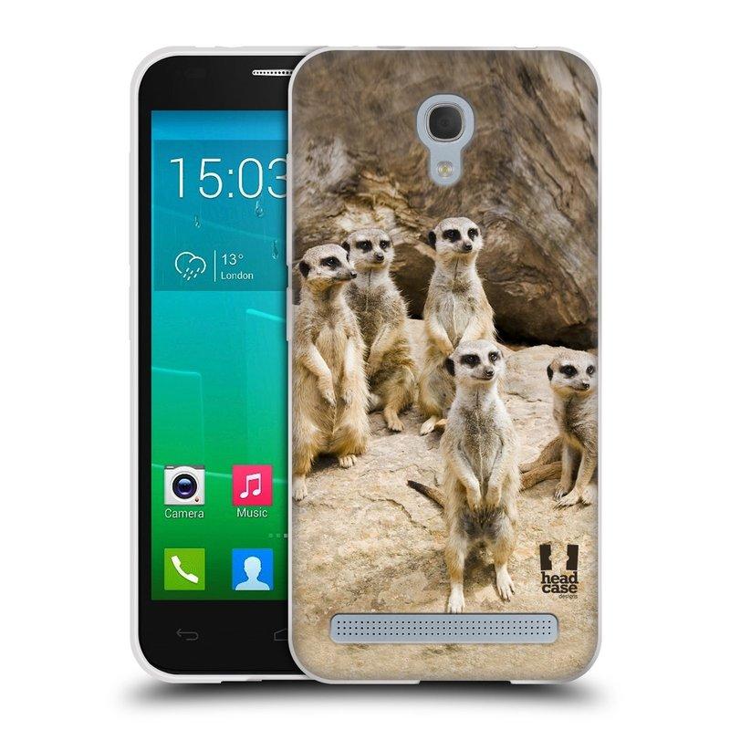 Silikonové pouzdro na mobil Alcatel One Touch Idol 2 Mini S 6036Y HEAD CASE DIVOČINA – SURIKATY (Silikonový kryt či obal na mobilní telefon Alcatel Idol 2 Mini S OT-6036Y)