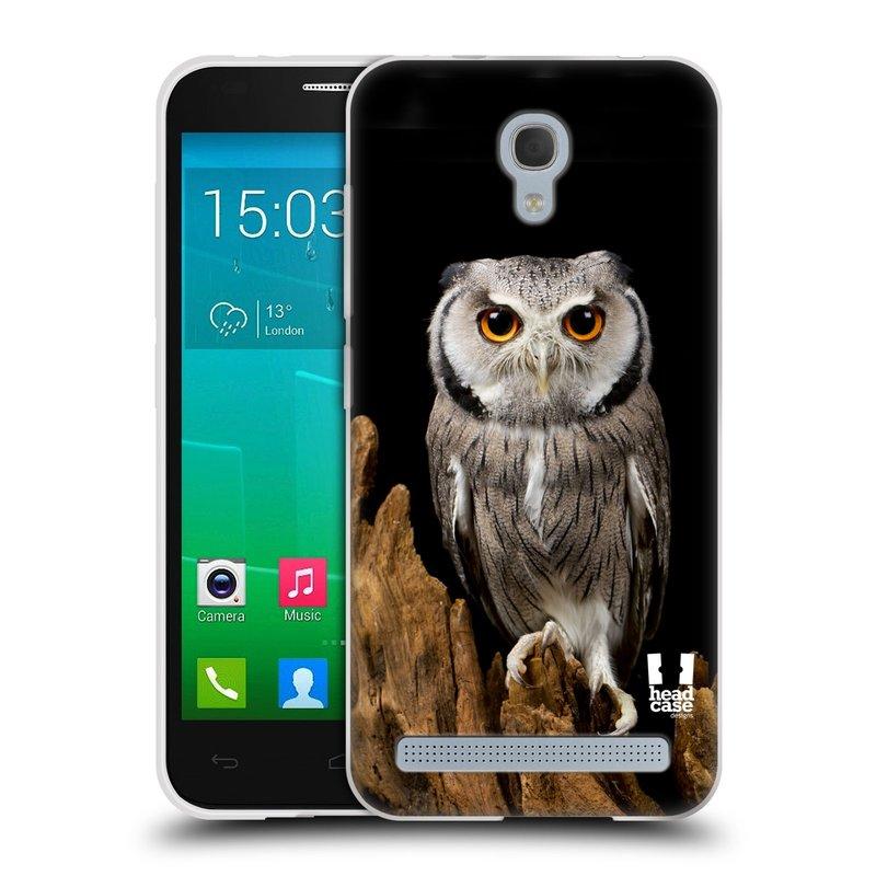 Silikonové pouzdro na mobil Alcatel One Touch Idol 2 Mini S 6036Y HEAD CASE DIVOČINA – SOVA (Silikonový kryt či obal na mobilní telefon Alcatel Idol 2 Mini S OT-6036Y)