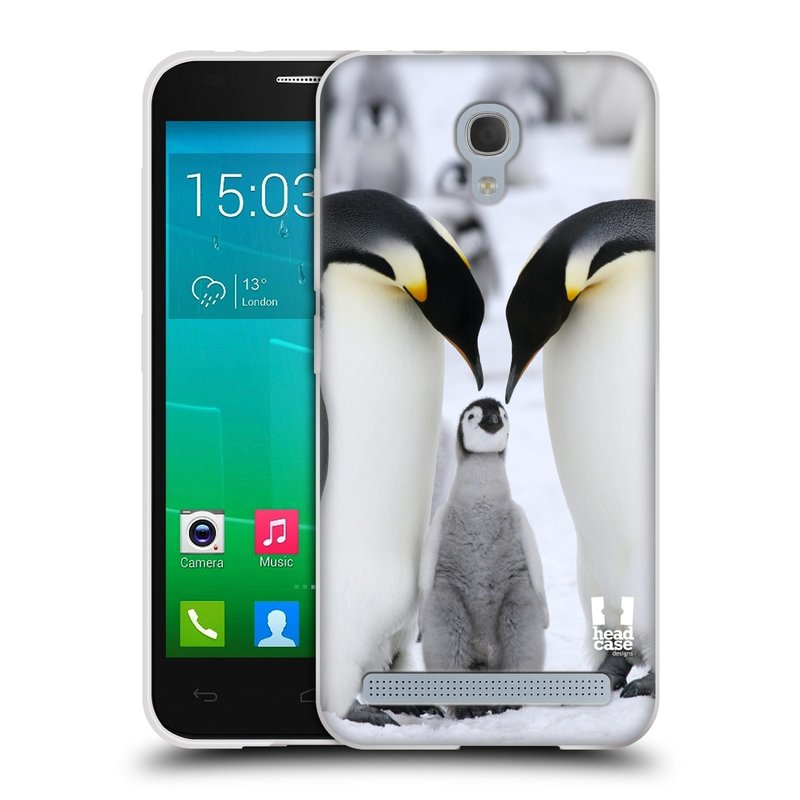 Silikonové pouzdro na mobil Alcatel One Touch Idol 2 Mini S 6036Y HEAD CASE DIVOČINA – TUČŇÁCI (Silikonový kryt či obal na mobilní telefon Alcatel Idol 2 Mini S OT-6036Y)