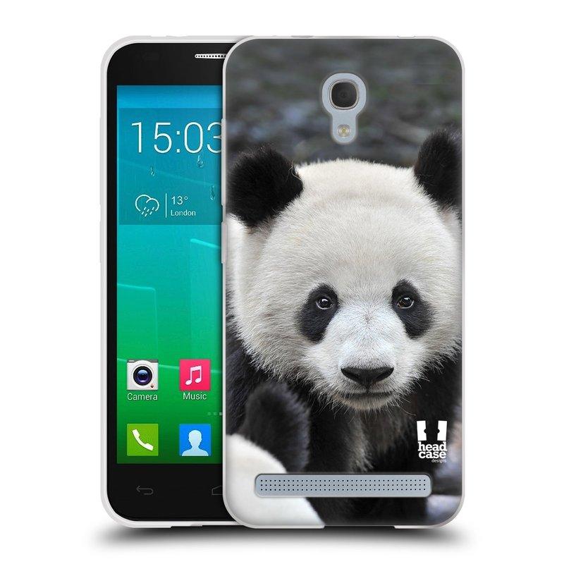 Silikonové pouzdro na mobil Alcatel One Touch Idol 2 Mini S 6036Y HEAD CASE DIVOČINA – PANDA (Silikonový kryt či obal na mobilní telefon Alcatel Idol 2 Mini S OT-6036Y)