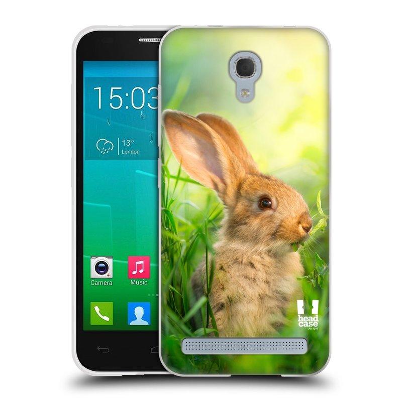Silikonové pouzdro na mobil Alcatel One Touch Idol 2 Mini S 6036Y HEAD CASE DIVOČINA – KRÁLÍČEK (Silikonový kryt či obal na mobilní telefon Alcatel Idol 2 Mini S OT-6036Y)