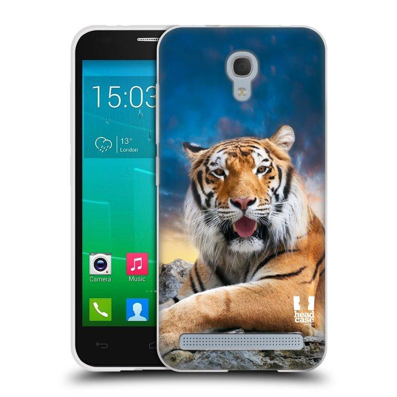 Silikonové pouzdro na mobil Alcatel One Touch Idol 2 Mini S 6036Y HEAD CASE DIVOČINA – TYGR (Silikonový kryt či obal na mobilní telefon Alcatel Idol 2 Mini S OT-6036Y)
