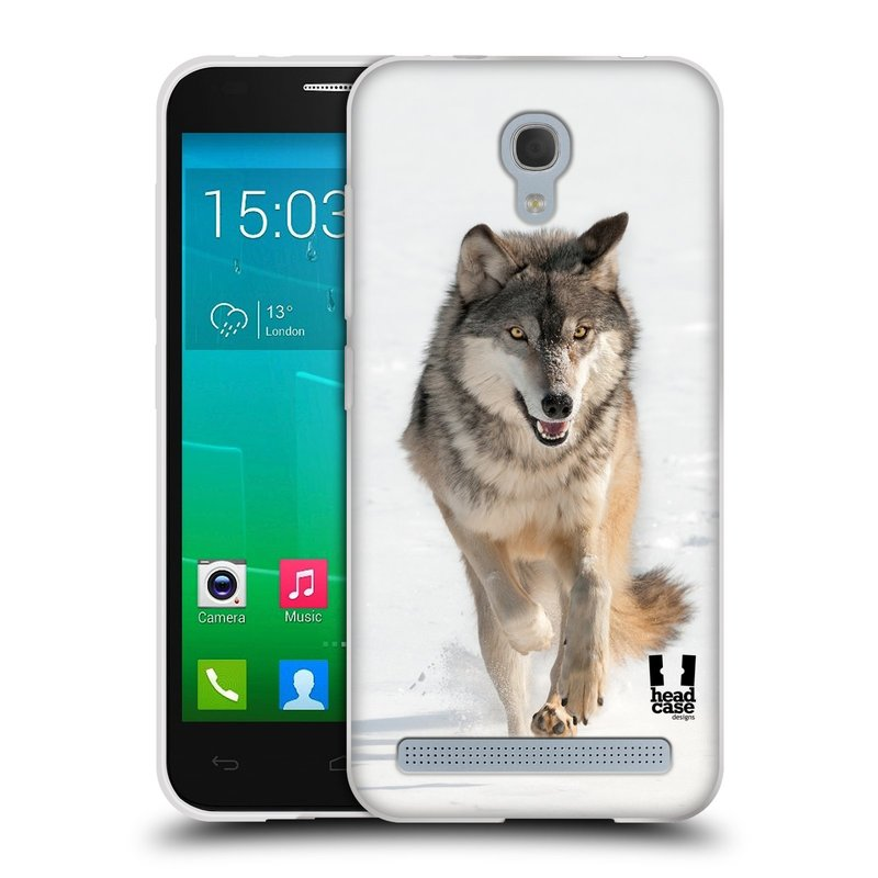 Silikonové pouzdro na mobil Alcatel One Touch Idol 2 Mini S 6036Y HEAD CASE DIVOČINA – VLK (Silikonový kryt či obal na mobilní telefon Alcatel Idol 2 Mini S OT-6036Y)