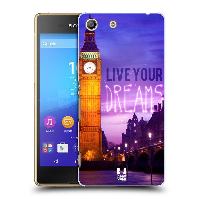Plastové pouzdro na mobil Sony Xperia M5 HEAD CASE DREAMS (Kryt či obal na mobilní telefon Sony Xperia M5 Aqua)