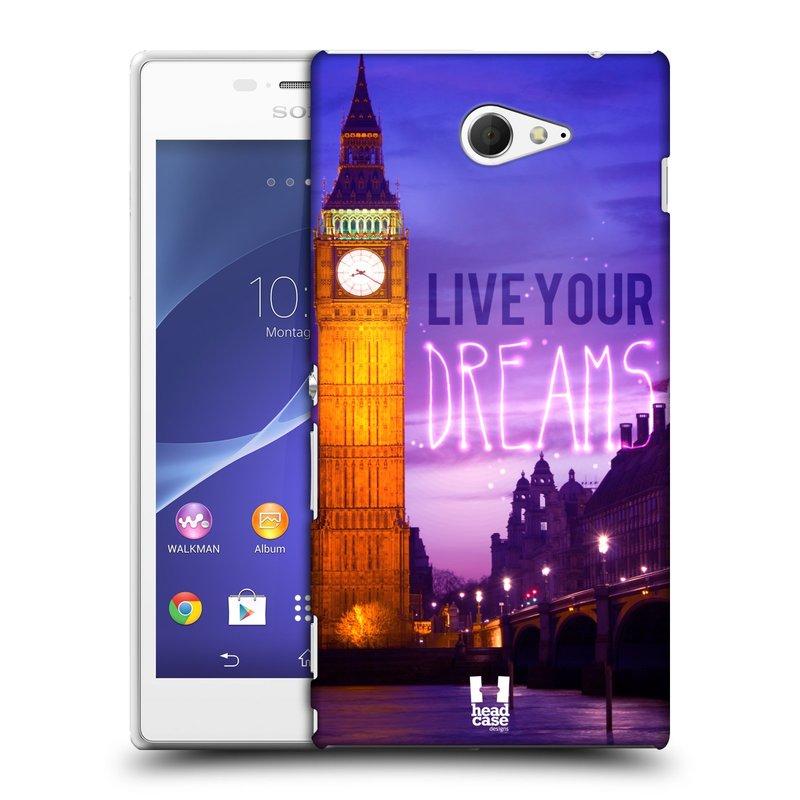 Plastové pouzdro na mobil Sony Xperia M2 D2303 HEAD CASE DREAMS (Kryt či obal na mobilní telefon Sony Xperia M2 )