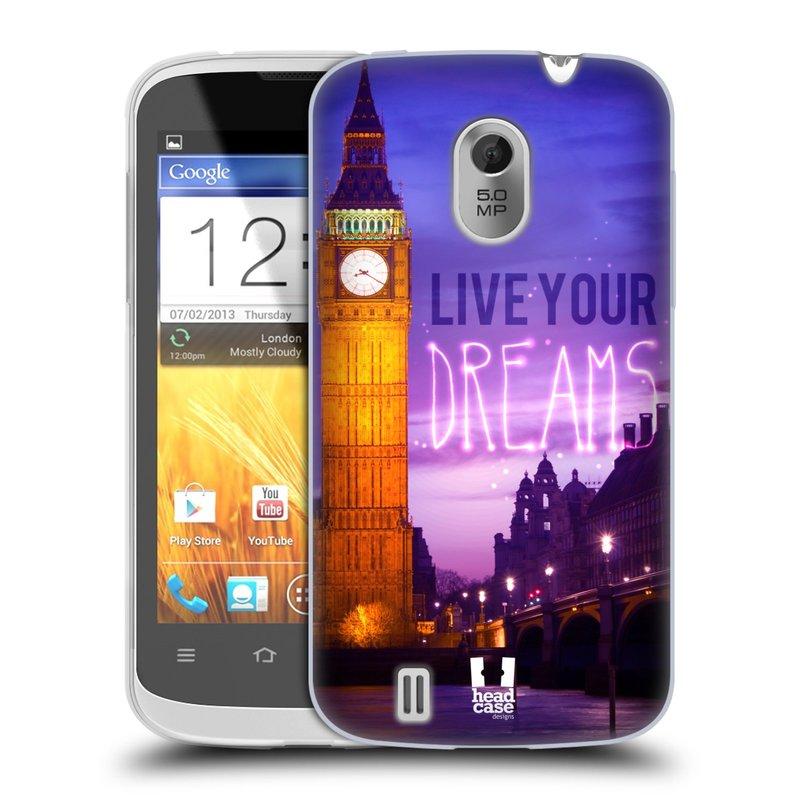 Silikonové pouzdro na mobil ZTE Blade III HEAD CASE DREAMS (Silikonový kryt či obal na mobilní telefon ZTE Blade 3)