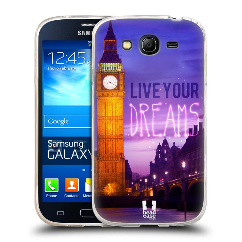 Silikonové pouzdro na mobil Samsung Galaxy Grand Neo Plus HEAD CASE DREAMS (Silikonový kryt či obal na mobilní telefon Samsung Galaxy Grand Neo Plus Duos GT-I9060i)