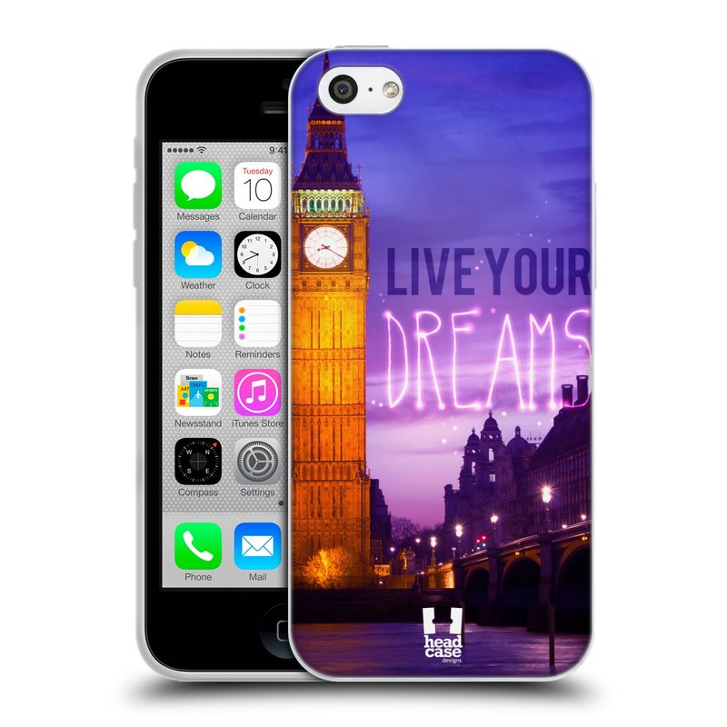 Silikonové pouzdro na mobil Apple iPhone 5C HEAD CASE DREAMS (Silikonový kryt či obal na mobilní telefon Apple iPhone 5C)