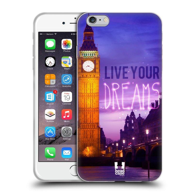 Silikonové pouzdro na mobil Apple iPhone 6 Plus a 6S Plus HEAD CASE DREAMS (Silikonový kryt či obal na mobilní telefon Apple iPhone 6 Plus a 6S Plus)