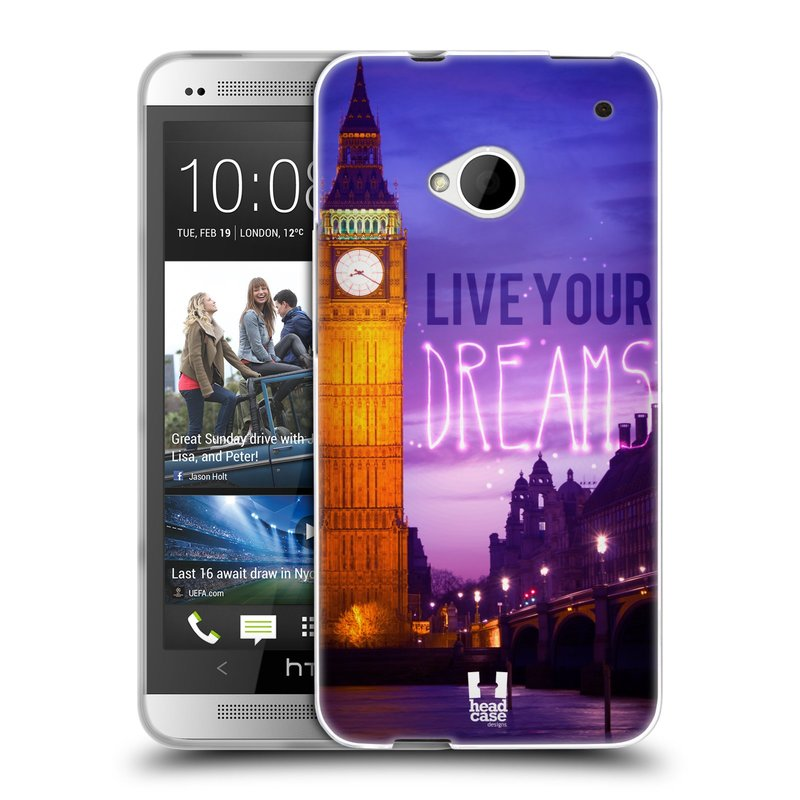 Silikonové pouzdro na mobil HTC ONE M7 HEAD CASE DREAMS (Silikonový kryt či obal na mobilní telefon HTC ONE M7)