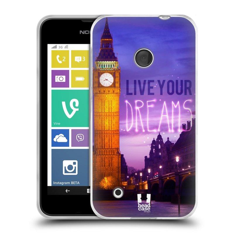 Silikonové pouzdro na mobil Nokia Lumia 530 HEAD CASE DREAMS (Silikonový kryt či obal na mobilní telefon Nokia Lumia 530)
