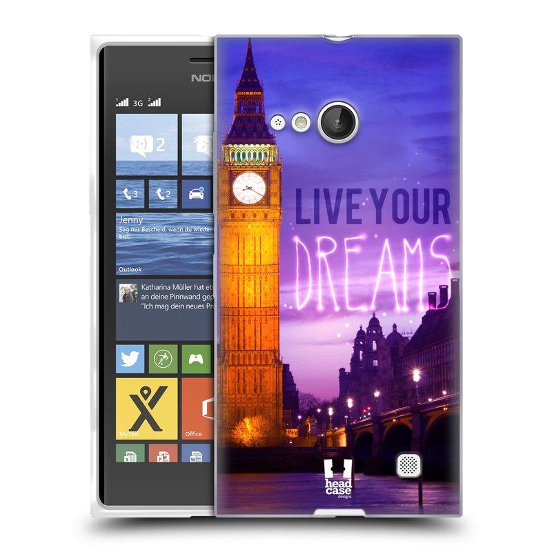 Silikonové pouzdro na mobil Nokia Lumia 735 HEAD CASE DREAMS (Silikonový kryt či obal na mobilní telefon Nokia Lumia 735)