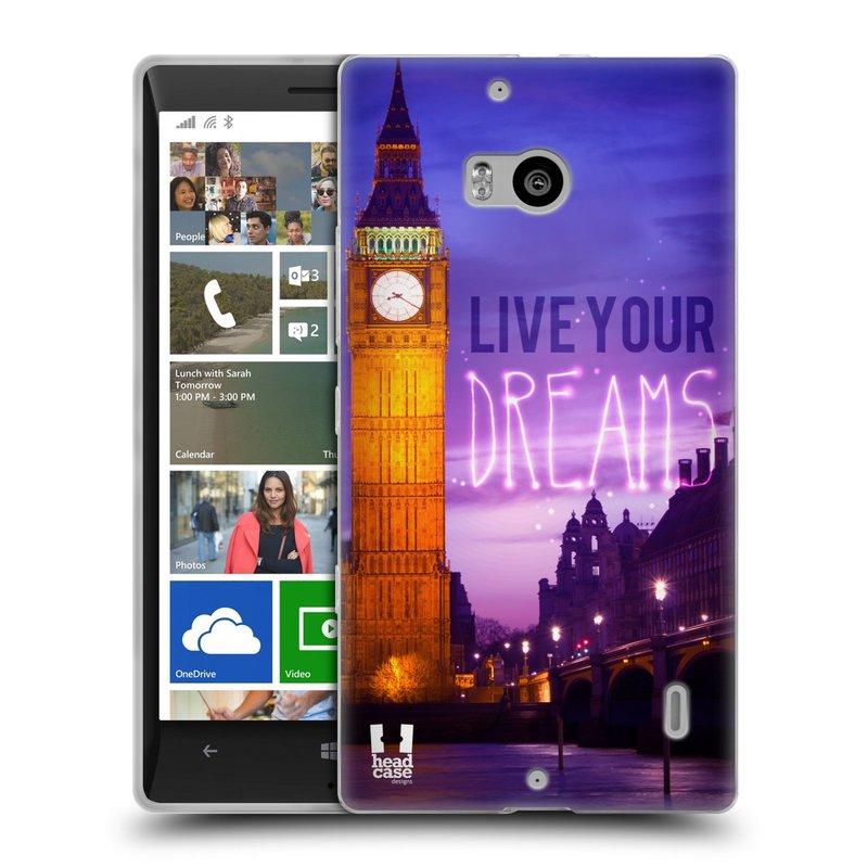 Silikonové pouzdro na mobil Nokia Lumia 930 HEAD CASE DREAMS (Silikonový kryt či obal na mobilní telefon Nokia Lumia 930)