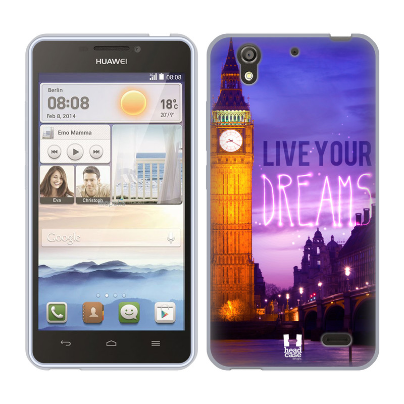 Silikonové pouzdro na mobil Huawei Ascend Y530 HEAD CASE DREAMS (Silikonový kryt či obal na mobilní telefon Huawei Ascend Y530)
