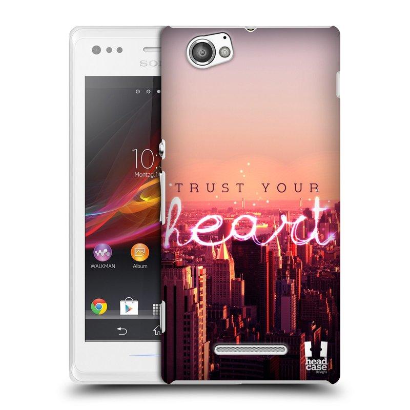 Plastové pouzdro na mobil Sony Xperia M C1905 HEAD CASE TRUST YOUR HEART (Kryt či obal na mobilní telefon Sony Xperia M a M Dual)