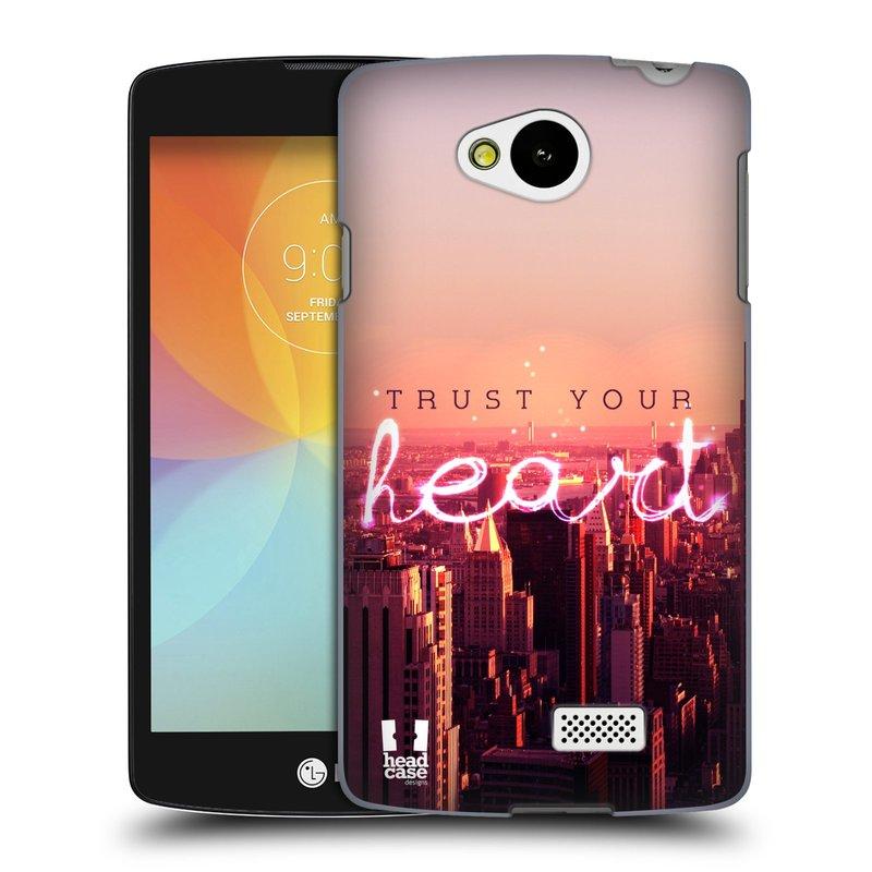 Plastové pouzdro na mobil LG F60 HEAD CASE TRUST YOUR HEART (Kryt či obal na mobilní telefon LG F60 D390n)