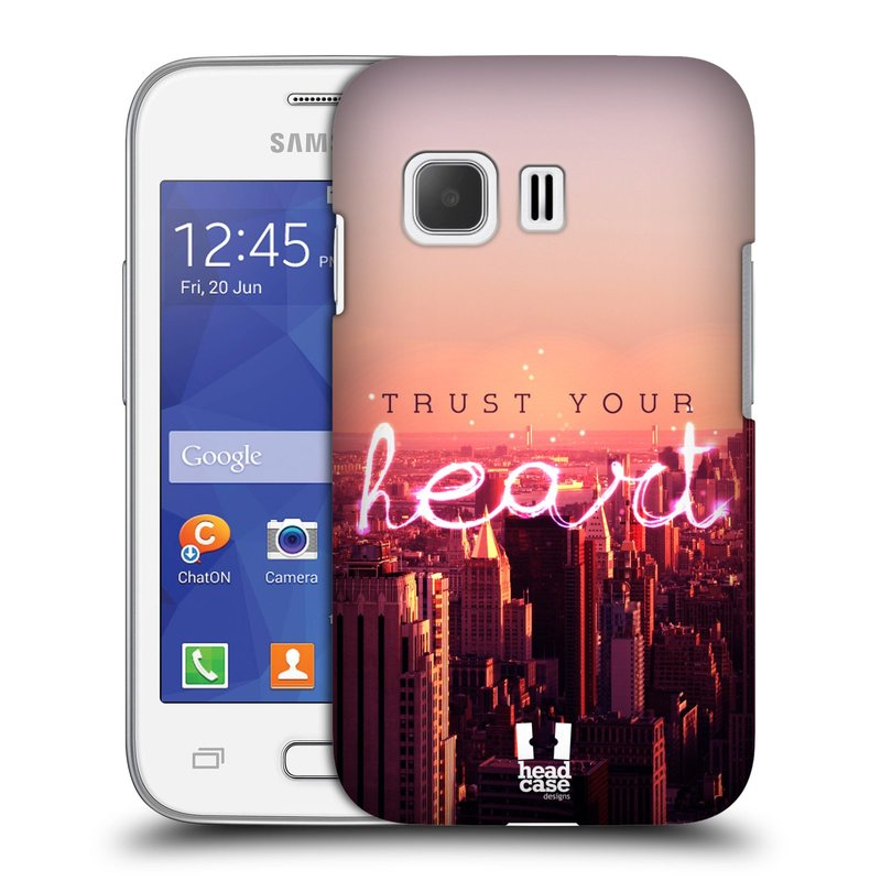 Plastové pouzdro na mobil Samsung Galaxy Young 2 HEAD CASE TRUST YOUR HEART (Kryt či obal na mobilní telefon Samsung Galaxy Young 2 SM-G130)