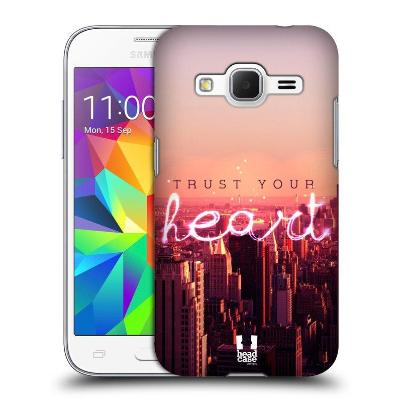 Plastové pouzdro na mobil Samsung Galaxy Core Prime LTE HEAD CASE TRUST YOUR HEART (Kryt či obal na mobilní telefon Samsung Galaxy Core Prime LTE SM-G360)