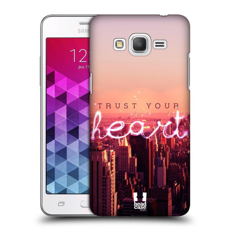 Plastové pouzdro na mobil Samsung Galaxy Grand Prime HEAD CASE TRUST YOUR HEART (Kryt či obal na mobilní telefon Samsung Galaxy Grand Prime SM-G530)