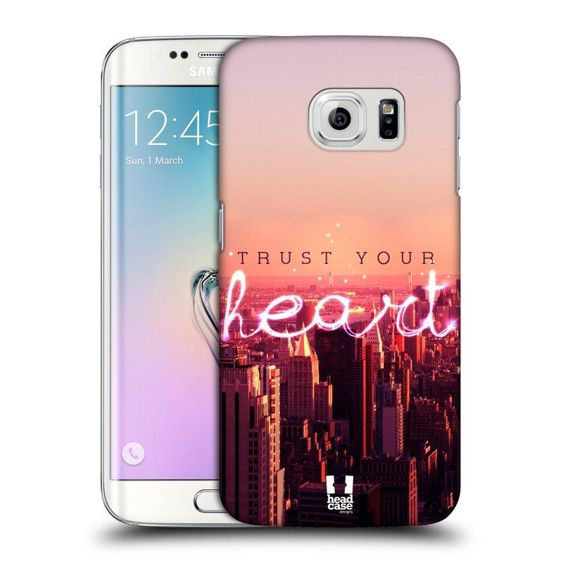 Plastové pouzdro na mobil Samsung Galaxy S6 Edge HEAD CASE TRUST YOUR HEART (Kryt či obal na mobilní telefon Samsung Galaxy S6 Edge SM-G925F)