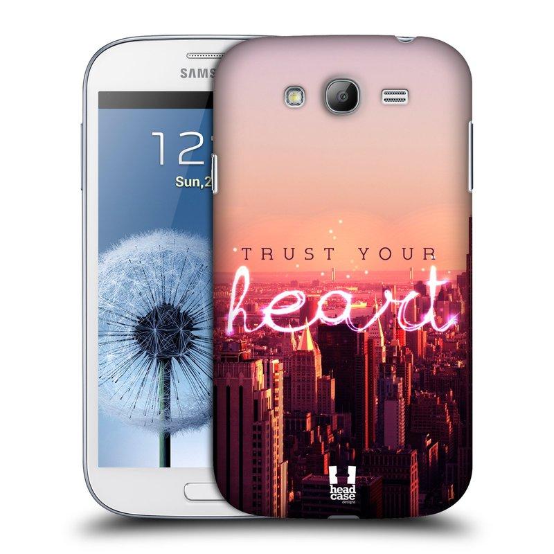 Plastové pouzdro na mobil Samsung Galaxy Grand Neo Plus HEAD CASE TRUST YOUR HEART (Kryt či obal na mobilní telefon Samsung Galaxy Grand Neo Plus GT-i9060i)