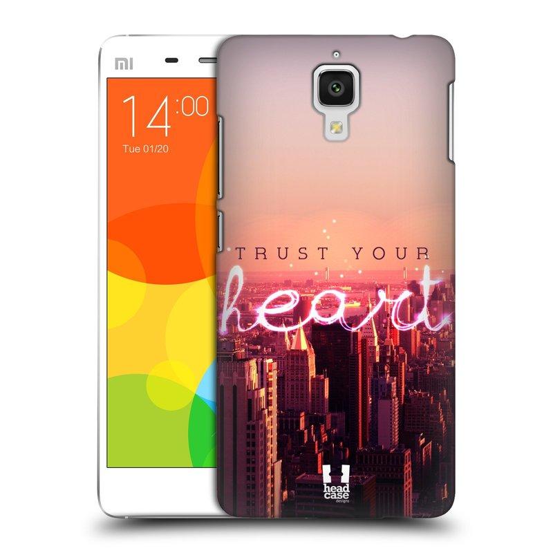 Plastové pouzdro na mobil Xiaomi Mi4 HEAD CASE TRUST YOUR HEART (Kryt či obal na mobilní telefon Xiaomi Mi4)