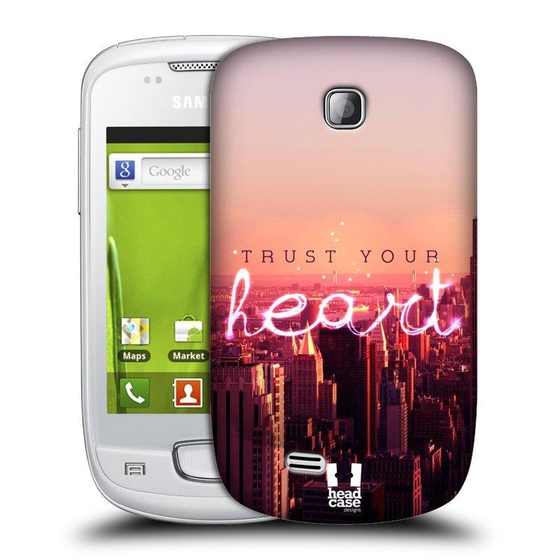 Plastové pouzdro na mobil Samsung Galaxy Mini HEAD CASE TRUST YOUR HEART (Kryt či obal na mobilní telefon Samsung Galaxy Mini GT-S5570 / GT-S5570i)